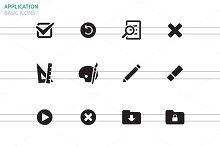 Application interface icons