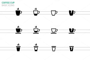 Coffee cup and Tea mug icons