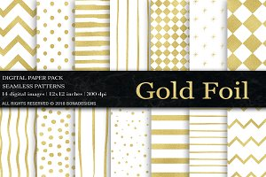 Gold Digital Paper, Gold Background