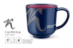 Cup Mockup. 3 angles