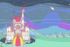 ♥ vector  Castleview illustration 03