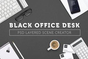 Simple black office scene creator