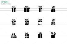 Gift box icons on white