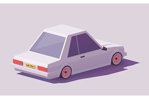 Vector low poly car