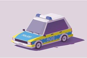 Vector low poly German police car