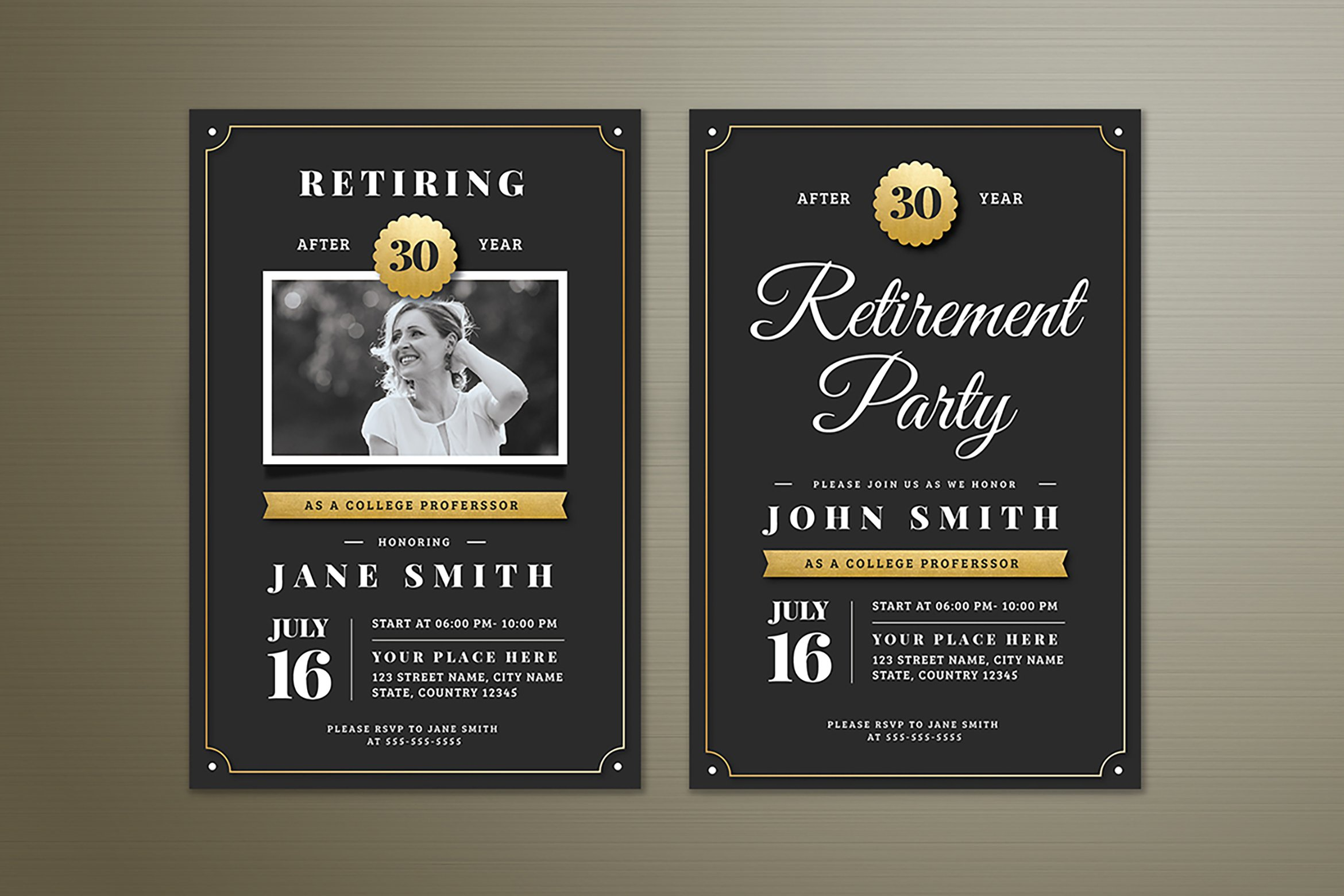 Retirement Invitation ~ Invitation Templates ~ Creative Market