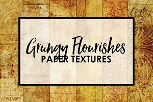 Grungy Flourishes Paper Textures