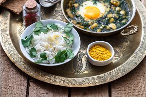 Baghali ghatogh - Iranian dish made with bean, dill, and Eggs.