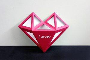 DIY Valentines Heart - 3d papercraft
