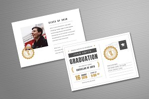 Postcard Graduation Invitation
