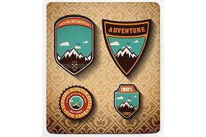 Adventure badge set