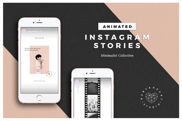 ANIMATED Minimalist Insta Stories