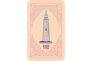 Lighthouse card.