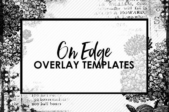 On Edge Background Overlay Templates