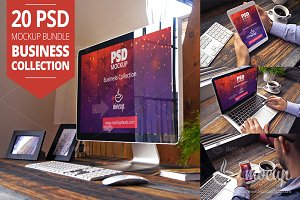 20 PSD Mockup Bundle Business