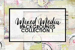 Mixed Media Backgrounds 1