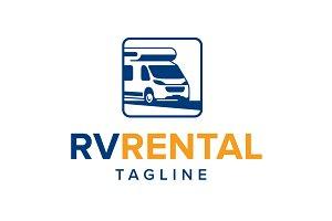 Camper Logo - RV Rental Logo