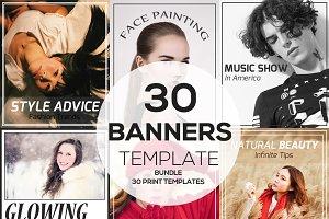 30 Banners Bundle