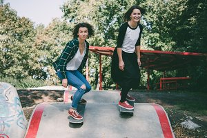 Girls on skate