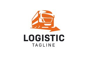 Logistic - Truck Transport Logo