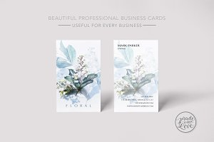 Minimal Floral simple beautiful card