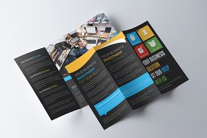 Corporate Business Black Brochure