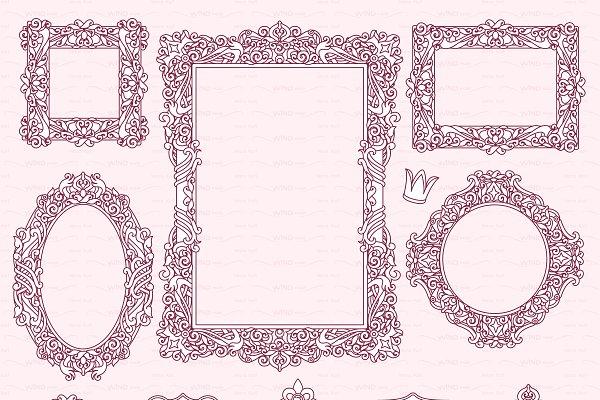 ♡ vector Frames items 01