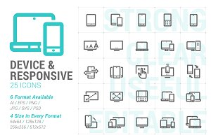 Responsive & Device Mini Icon