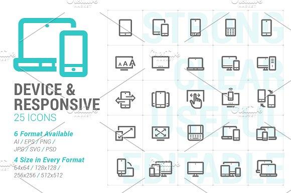 Responsive & Device Mini Icon in Icons