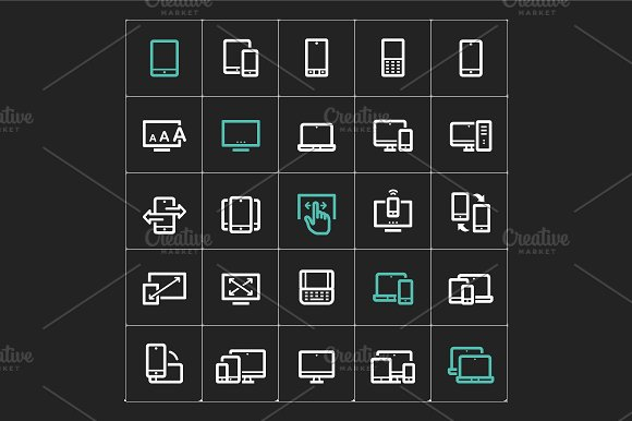 Responsive & Device Mini Icon in Icons - product preview 2