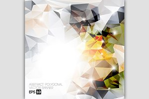 Vector abstract polygon