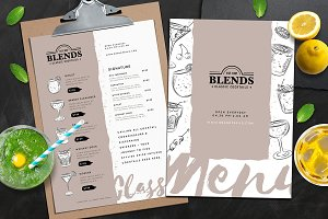 Cocktail Menu Template Vol.2