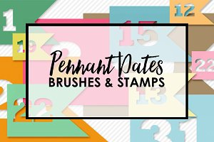 Pennant Date Brushes