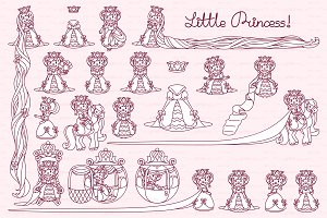 ♡ vector Little Princess items 01