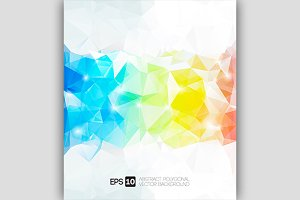 Vector abstract colorful polygon