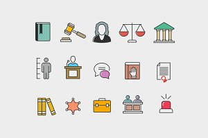 15 Law Courtroom Icons