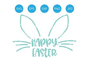 Happy Easter SVG EPS DXF PNG JPG
