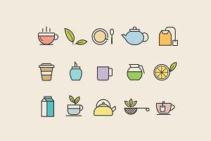 15 Tea Icons