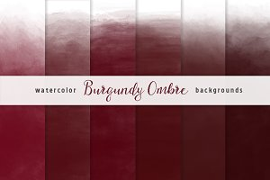 Burgundy Watercolor Backgrounds