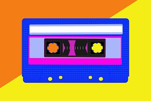 Illustration of a cassette