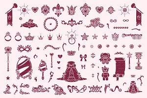 ♥ vector Wonderland  stencil 05
