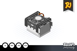 Isometric Fan Processor Socket 478