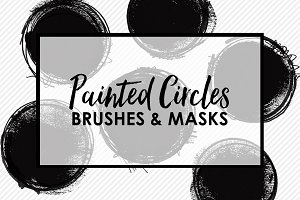 Painted Circle Brushes and Masks