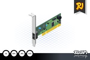 Isometric Network Card