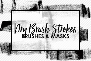 Dry Brush Stroke Brushes & Masks