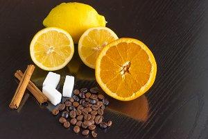 Citrus, cinnamon,sugar and coffee II