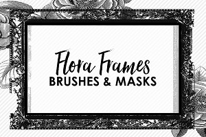 Flora Frame Brushes & Masks
