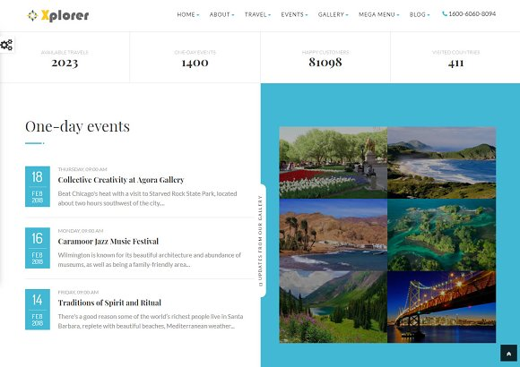 Xplorer - HTML Tourism Template