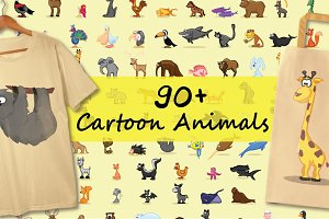 90+ Cartoon Animals