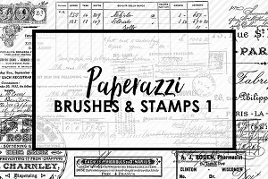 Paperazzi Ephemera Brushes & Stamp 1